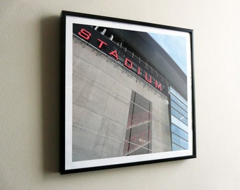 Arsenal Football Club Emirates Stadium – flat print or framed options – posters also available – FREE UK postage