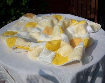 Handknitted baby blanket