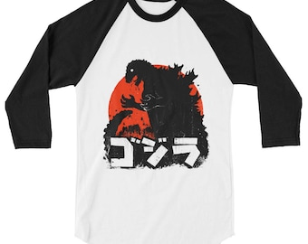 GOJIRA Pop Cult 3/4 Sleeve Raglan Shirt