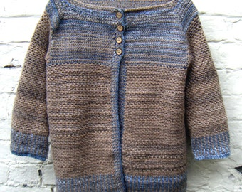 Crochet Pattern for Women's Cardigan Striped Sweater DK Instant Download PDF