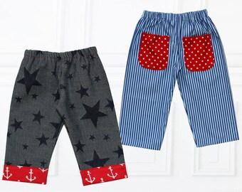 Baby Sewing Pattern PDF, Baby Pants Pattern, Baby Trousers Pattern, Baby Boys Pattern, Baby Girls Pattern, Childrens Sewing Pattern, COMFY B