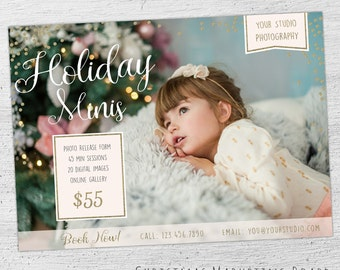 Christmas Mini Session Template, Christmas Mini Template, Holiday Mini Session Template, Chrstmas Marketing, Photoshop Template, Photography