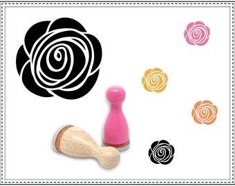 Rubber stamp ROSE Ø 12 mm