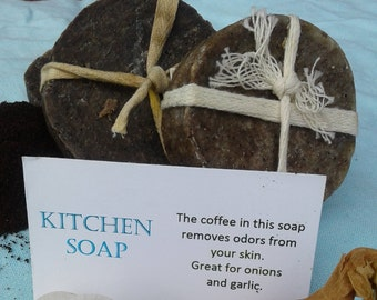 Kitchen Soap, Cold Process, All Natural, 18th Century Style, Removes Odors