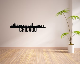 24 Inch Chicago City Skyline Vinyl Wall Decal
