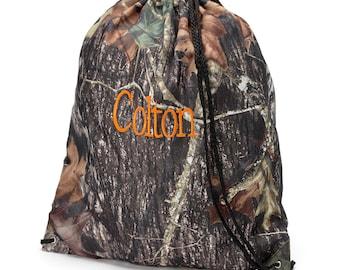Camo Gym Bag, laundry bag, backpack, Woods bag