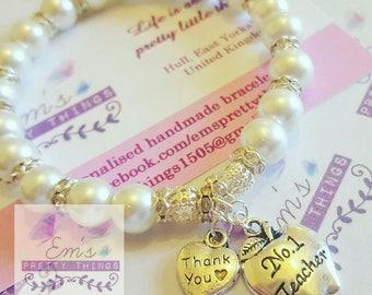 No1 Teacher Handmade Bracelet