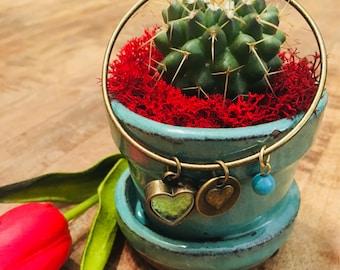 Bangle, Gemstone jewelry, charm bracelet, boho jewelry, birthday jewelry, beach jewelry, beach wedding, beach bracelet, chakra jewelry