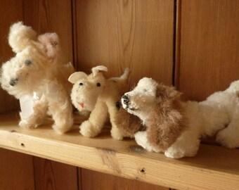 Three Little Vintage Dogs 1950s