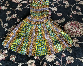 African Print Sundress Tiled Design