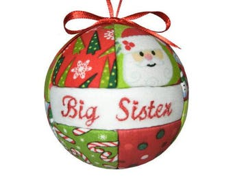 Big Sister Christmas Ornament, Tree Decoration, Home Decor, Gift Under 20, Gift For Her, Best Friend, Gift, Gift for Children, Ornament