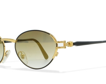 Gianni Versace G23 18L Gold , Black Vintage Sunglasses Oval For Men and Women