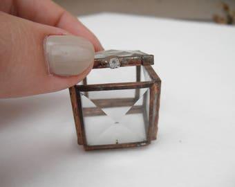 """1"""" Square Glass Treasure Box"""