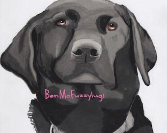 Lab Dog Portrait, Custom digital dog drawing, Personalized labrador Dog Art, Sketch of your dog, Promarker digital dog drawing