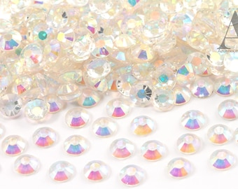 Crystal AB Resin Rhinestones for Embellishments and Nail Art 3-6mm