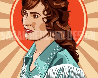 Portrait of Loretta Lynn