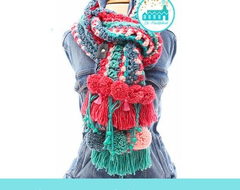 Crochet Pattern of The Bohemian Scarf by De Haakfabriek DIRECT DOWNLOAD