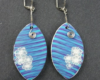 Handmade Blue and Purple earrings, Earrings Set, Polymer Clay Earrings, Blue and Purple Earrings, Jewelry, Gift for Her, Mom Gift