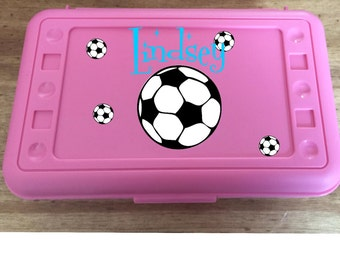Back to School, Sports for Girls Personalized Pencil Box, Many colors available