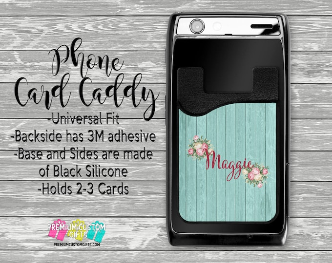 Personalized Phone Card Caddy - Personalized Card Holder - Phone Accessories - Gifts For Her - Phone Wallet - Custom Card Holder  - Custom