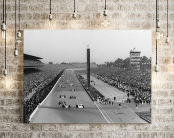 1972 Indy 500 Indianapolis Motor Speedway race car photo Indianapolis 500 Mile race photo indy car race track photograph race fan gift item