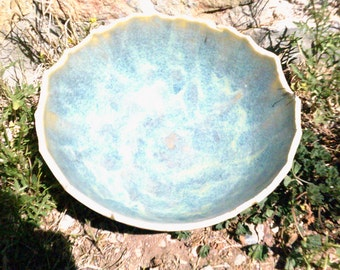large bowl porcelain pottery bowl dragon egg bowl in blue green
