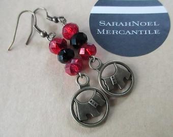 Christmas Scotties . Earrings