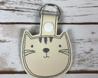 Cats Keychain Kitty Face Keyfob Cat Lover Gift