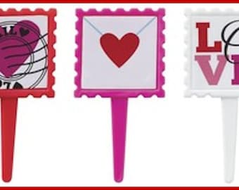 Valentine Love Letter Decopics Cupcake Toppers