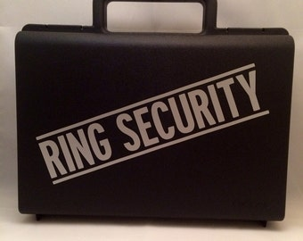 Ring Bearer Briefcase,  Ring Security Case,  Ring Security Box, Ring Bearer Pillow Alternative, Ring Security Agent, Ring Security Agent