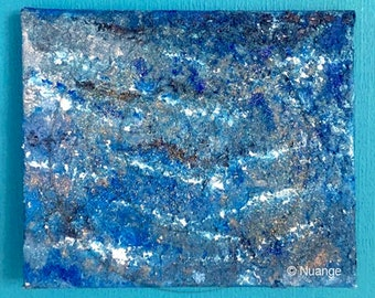 Sea waves - unique painting on canvas painting - abstract