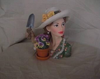 "Martina 1939 ""Garden Glory""  Head vase"