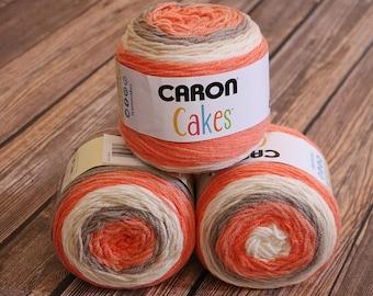 Caron Cakes Yarn - Strawberry Trifle - NEW Color - Wool Blend Yarn - Self-striping yarn - Michael's exclusive yarn