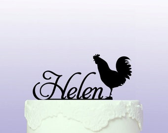 Personalised Chicken Cake Topper