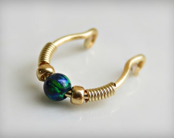 clip on septum ring - Fake Septum Ring - faux septum ring - septum ring - septum cuff
