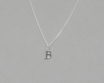 Silver Plated Initial B Necklace 113
