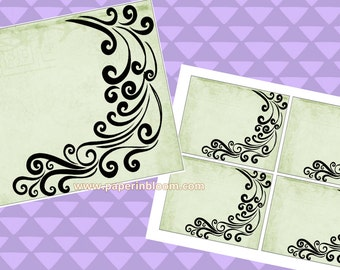 Instant Download - Feather Flat Cards