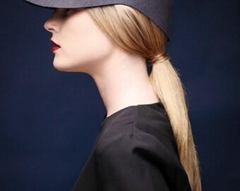 Womens felt visor /  Handmade hat /  Womens hat / Winter hat / Visor hat / free shipping