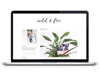 "wordpress theme ""wild & free"" - responsive blog template - premade"