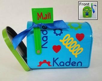 Valentine's Day mailbox, Personalized Kids Valentines Day Gift, Valentines Mail box, Kids Valentine mini mail box, Children Valentines Day