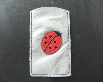 DESTASH: Case, Smartphone Ladybug leather sleeves