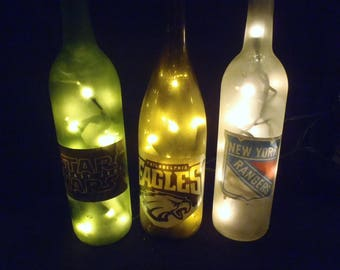 Frosted bottle lights with any picture