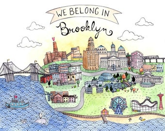 We Belong in Brooklyn Print 8.5x11""