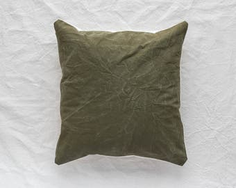 20X20 Vintage Army Canvas Pillow