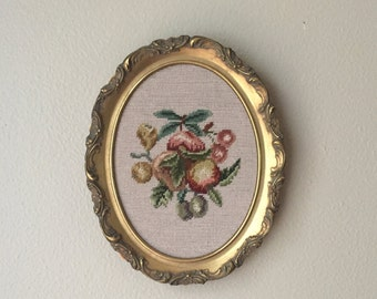 Handcrafted Needlepoint Picture