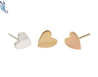 Heart Stud Earrings, Sterling Silver, Gold Filled, Rose Gold Filled, Dainty Heart Studs, Heart Earrings, Small Heart Studs, GFER93