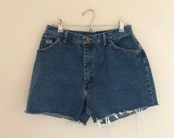 "Wrangler for Women Denim Cutoff Shorts Waist 30"""