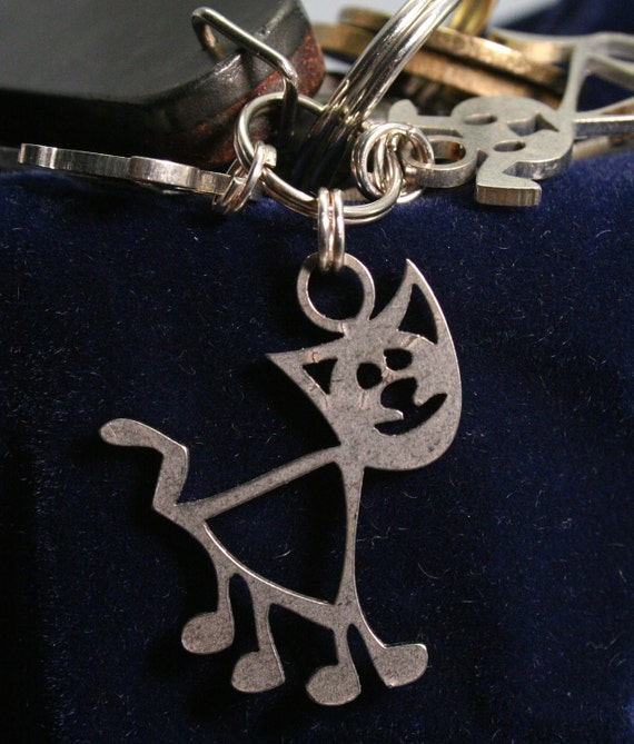 Fat Cat Key Chain Charm