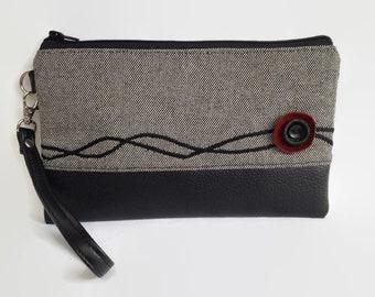 Wristlet, Leather Wristlet purse, Wristlet wallet, Leather clutch purse, Clutch bag, Bridesmaids clutch, Bridesmaids gift, Wristlet clutch
