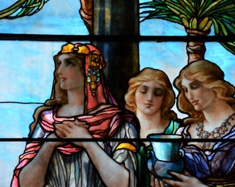 Queen of Sheba - Fine Art Print of Antique Stained Glass Window